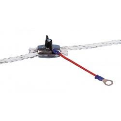 Connecteur haute tension pour cordelette