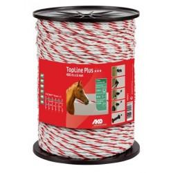 Cordelette TopLine Plus, blanc/rouge, 6mm 6x0,30 Tricond