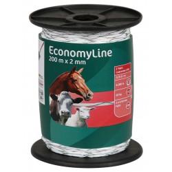 Fil de clôture EconomyLine 2mm,2x0,50 FeZn