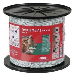 Fil Premium Line, 1000m, blanc/vert, R9 3x0,25mm spéc +6x0,20mm inox