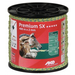 Fil Premium SX tressé, jaune/bleu, 400m, 2x0,2inox + 1x0,25mmCu