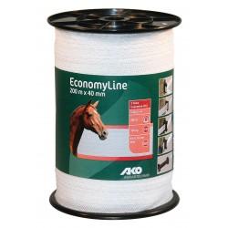 Ruban Economy Line blanc, 200m, 40mm, 8x0,16mm inox