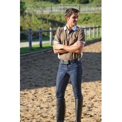 Pantalon équitation hommes, Denim Clarino 3/4