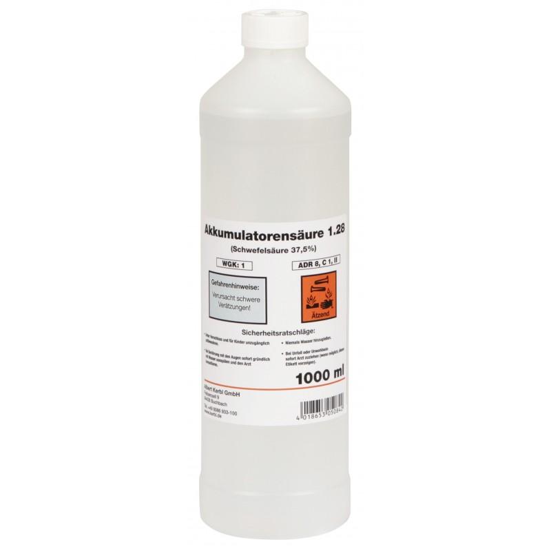 Bouteille d 39 acide pour batterie 37 4 1l - Acide pour batterie ...