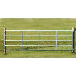 Barrière d'herbage réglable acier galvanisé