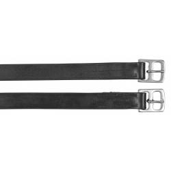 Etrivières adulte cuir noire