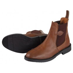 Botillons d'équitation cuir Classic, brun, huilé