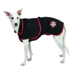 Manteau chien Riga noir/rouge