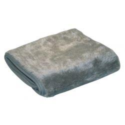 Couverture thermique 100x75cm gris et beige