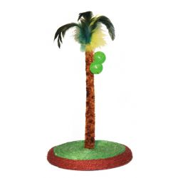 Palmier sur socle Sisal avec 2 balles, h:33 cm